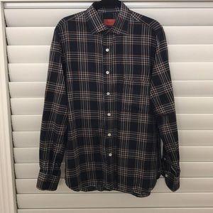 Isaia Men's Button Down Long Sleeve Shirt Sz 16.5